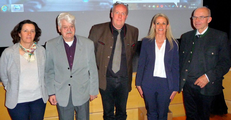 v.l: Caroline Heiss, Horst Seizinger, Jens Kappel, Zäzilia Moser, Berthold Goerdeler